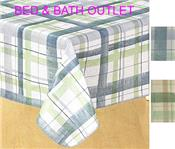Lexington Plaid Vinyl Tablecloth by Newbridge