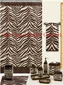 Zebra Brown/Ivory Bath Ensemble by Creative Bath Products