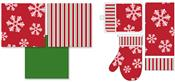 Assorted Holiday Flannel Back PEVA Tablecloths and Kitchen Accessories