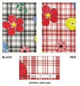Plaid Flower Flannel Backed Vinyl Tablecloth by Broder MFG Inc