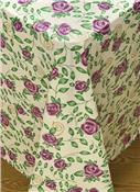 Rose Time Flannel Backed Vinyl Tablecloth by Broder MFG Inc