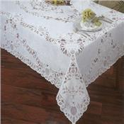 Crochet Lace Vinyl Tablecloth by Newbridge