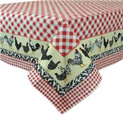 Just Us Check-Ins Cotton Tablecloth by Design Imports