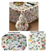 Enchanted Garden Flannel Backed Vinyl Tablecloth by Lintex