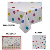 Confetti Print Cotton Table Linens by Design Imports