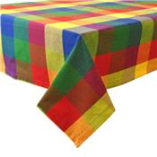 Palette Check Indian Summer Cotton Tablecloth by Design Imports