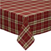 Campfire Plaid Cotton Tablecloth by Design Imports