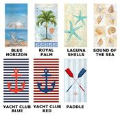 Boats and Beaches Paper Guest Towel Napkins by Ideal Home Range