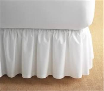 Cotton Gathered Detachable Bed Skirt