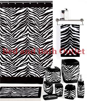Zebra Black/White Bath Ensemble by Creative Bath Products