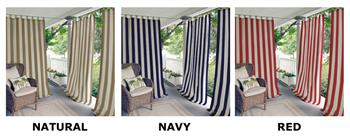 Highland Stripe Indoor Outdoor Window Panels by Elrene Home Fashions