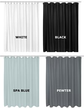 Waffle Weave Cotton Shower Curtain by Carnation Home Fashions