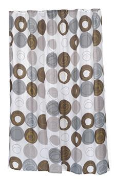 Madison Fabric Shower Curtain by Carnation Home Fashions