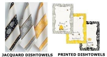 Honey Bee Cotton Dishtowels by Design Imports
