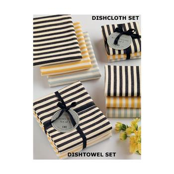 Petite Stripe Dishtowel and Dishcloth Gift Sets by Design Imports