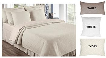 Evora Matelasse Coverlets and Shams by Europa Fine Linens