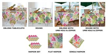 Casual Living by Newbridge Kona Tropics Indoor Outdoor Table Linens
