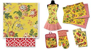 May Medley Buttercup Kitchen Accessories by Waverly